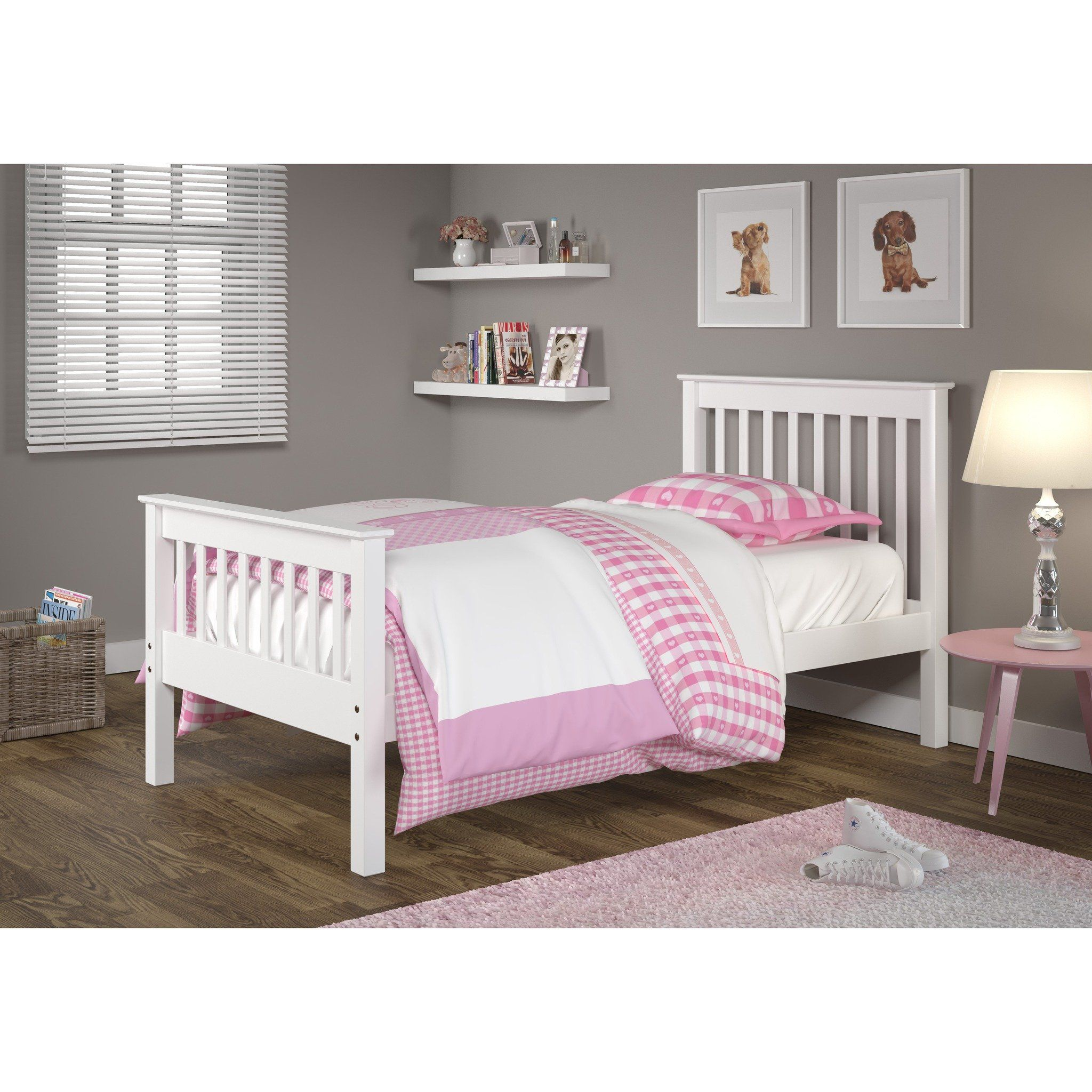 Donco Kids Mission White Pine Wood Twin Panel Bed Kid