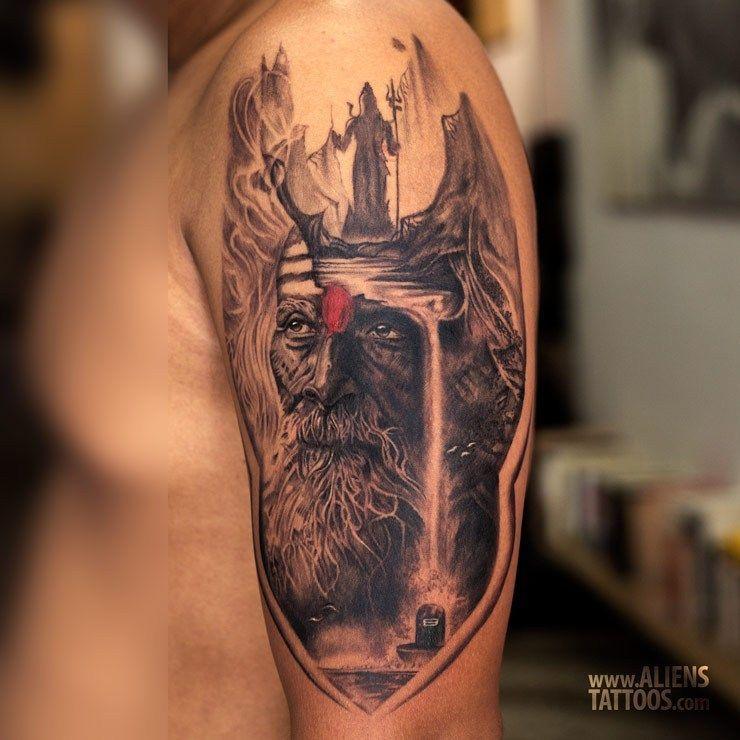 14f66c8239bf3 best lord shiva tattoo designs   Full Sleeve Tattoo Designs ...