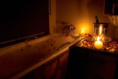 One of my favorite ways to Relax...Candle lit Bubble Bath ...