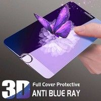 Wish | For IPhone 7 7 Plus 6 6s 6 Plus 6S Plus Phone Cases Luxury Blue Ray Gradient 3D Tempered Glass Screen Protector Back Cover Case Capa Coque