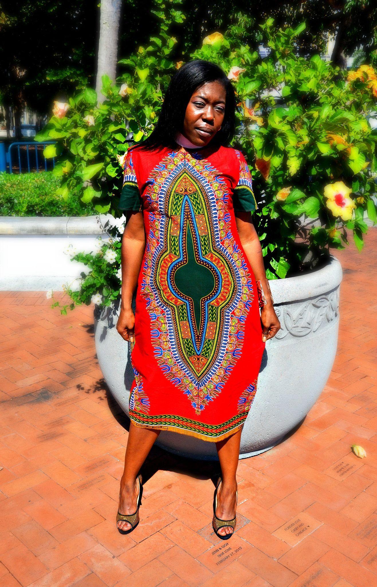 af98b25a12fb8 ALAYA African Dashiki Fabric Short Midi Dress African Dashiki, African Wear,  African Clothing Stores