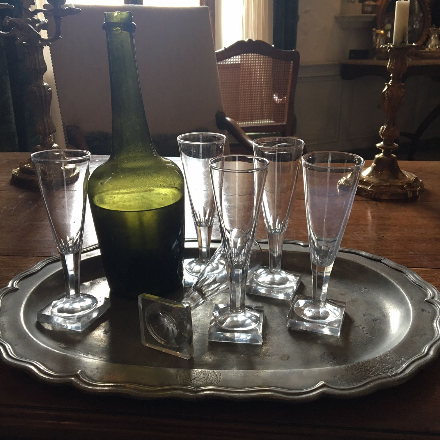 Don't forget Valentine's Day is February 14th. Come check out our diverse selection of champagne flutes here at Au Vieux Paris Antiques.  #Valentinesday #antique #champagneflutes