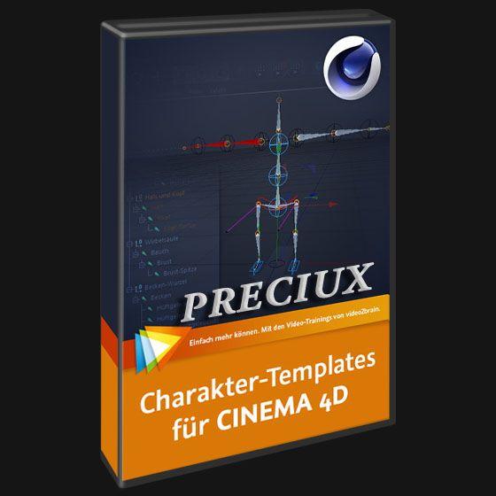 Video2brain Character Templates For Cinema 4d German Preciux