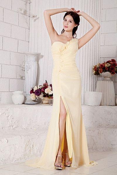 Mantel / Spalte V-Ausschnitt Chiffon-Cocktail-Kleid kv1385 ...