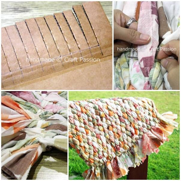 DIY Old Bed Sheet Rug UsefulDIYcom Follow Us On Facebook - Diy rugs projects