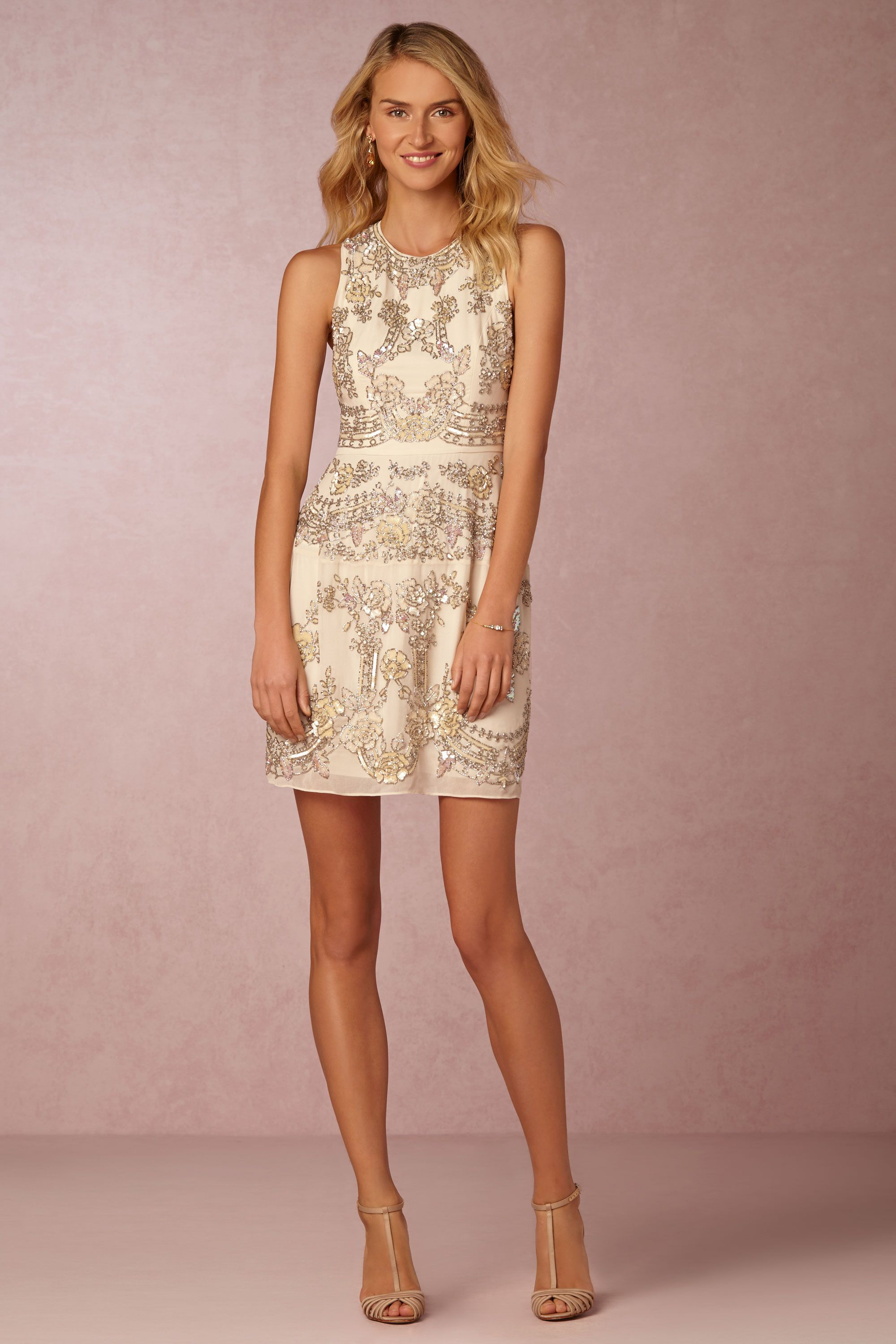 short, embellished party dress from Needle & Thread | Austin Dress ...