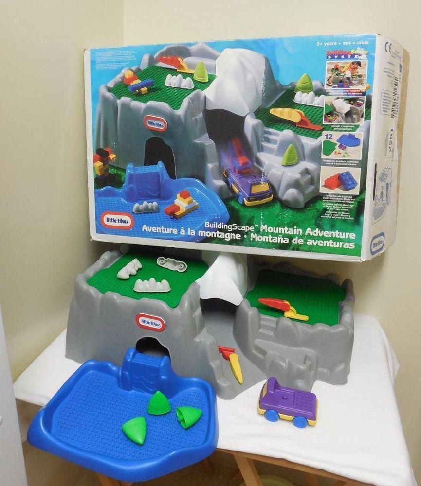 #RareLittleTikes #LittleTikes #Playset #Lego #RareLego RARE 1997 Little Tikes BuildingScape MOUNTAIN ADVENTURE Lego Playset BOXED SET!  #LittleTikes