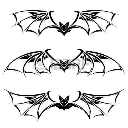 Bats Illustration Collection Illustration On White Background Photo Bat Art Bat Tattoo Drawings