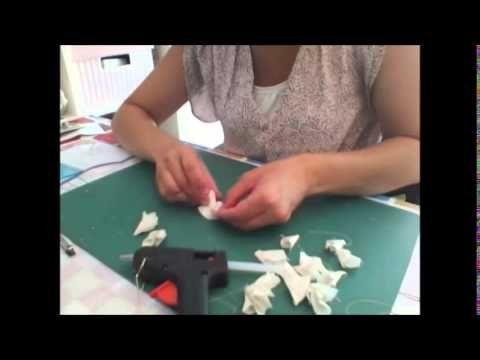 DIY : fabrication de broche et barrette fleur en tissu