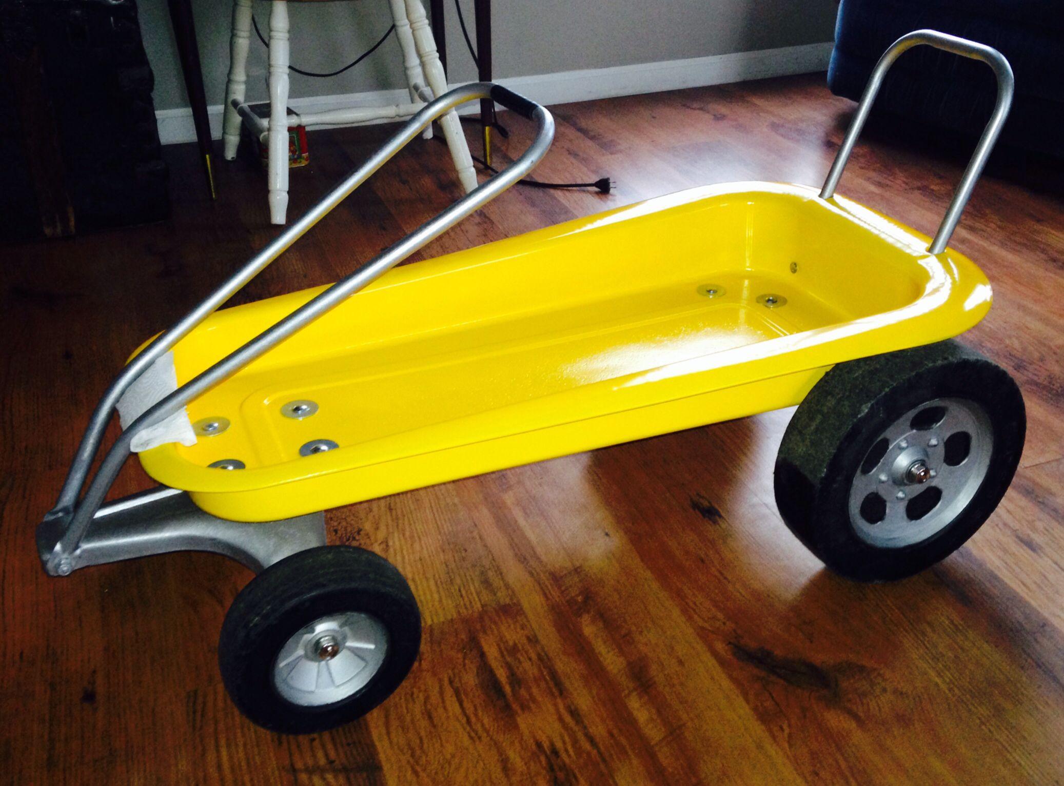 A true hot rod wagon Custom go karts, Red wagon, Go kart