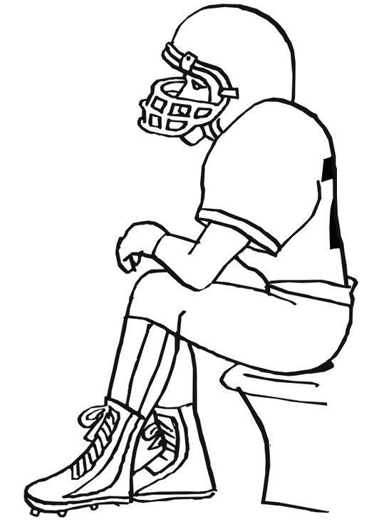 Super Bowl Player Football Coloring Pages | Readin\' and Ritin ...