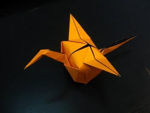 How to Make a aper Crane Storage Box - Easy Origami Crane Tutorial ... | 360x480