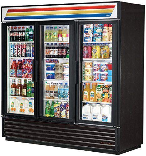 True Mfg Gdm 72 3 Door Glass Swing Door Refrigerator