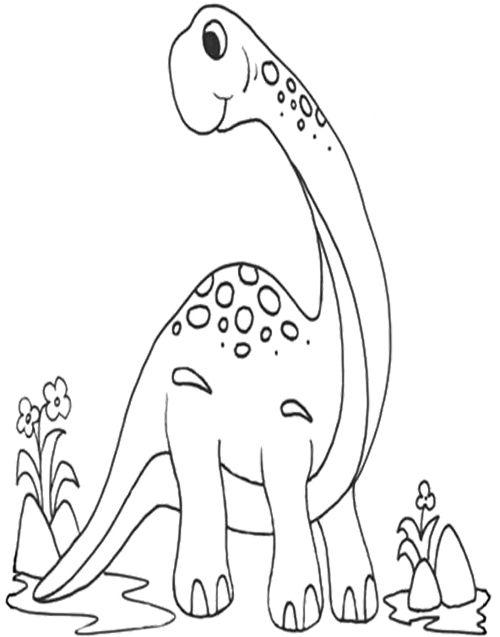 Brachiosaurus Coloring Page | Dinosaur | Pinterest | Craft