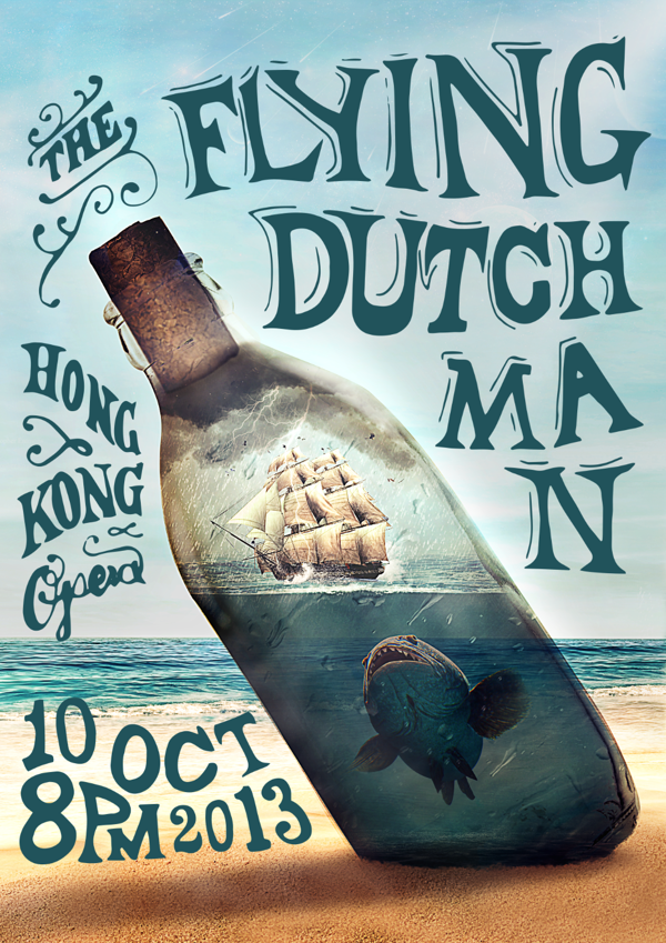 The Flying Dutchman Opera Poster by Stephen Leung, via Behance