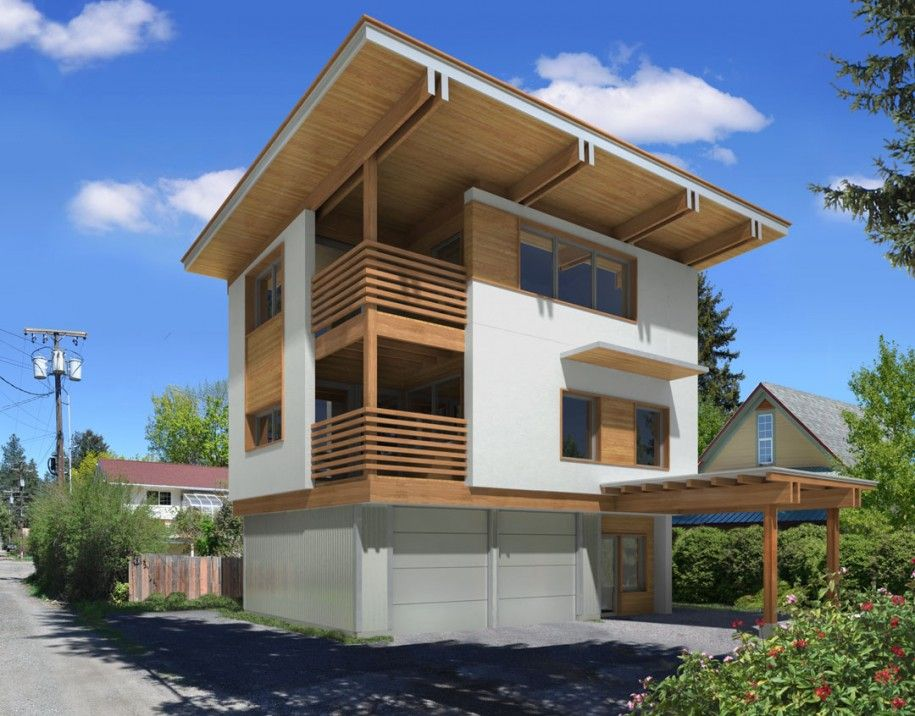 flat roof contemporary home designs flat roof garage plans: flat ...