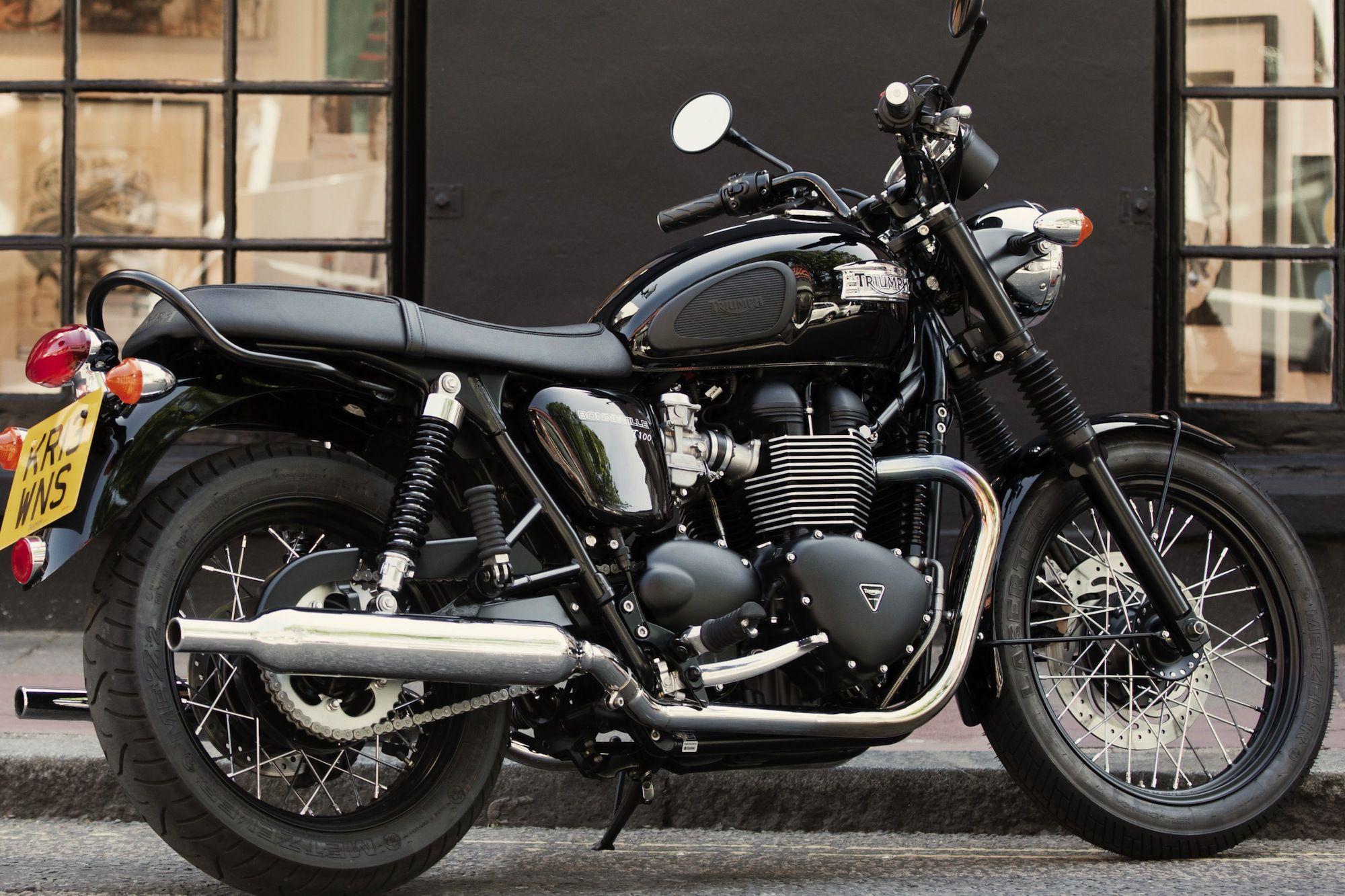 Triumph Bonnevilles T100 Black Motorcycle Diaries Triumph