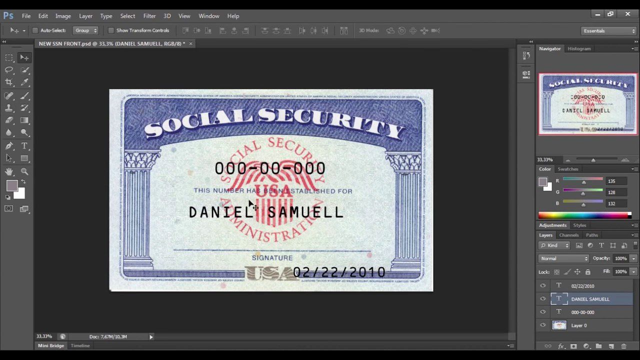 Social Security Card Template Pdf Awesome Fillable Social Security Card Template Blank Soc Card Templates Free Social Security Card Business Card Template Word