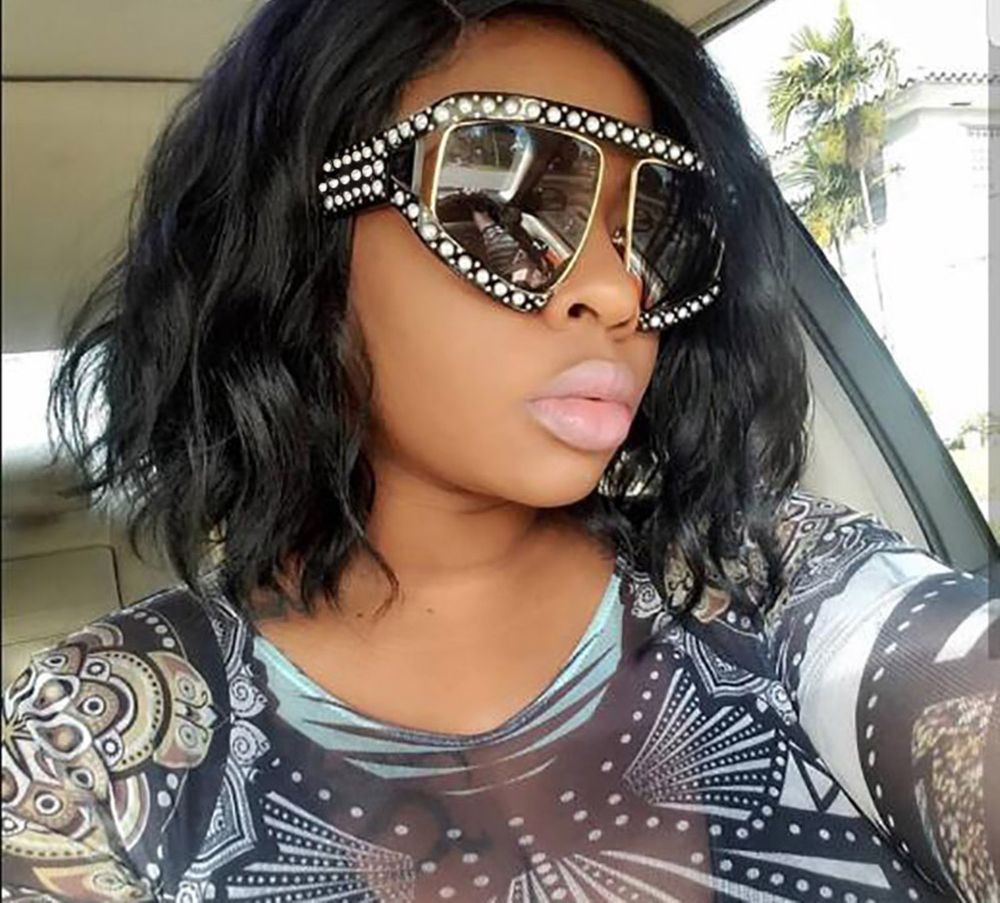 768132c6a46 Luxury Big Pearl Sunglasses Women Oversized UV400 Eyewear Big Frame Fashion  Cool  LuxuryBigChina  Oversized