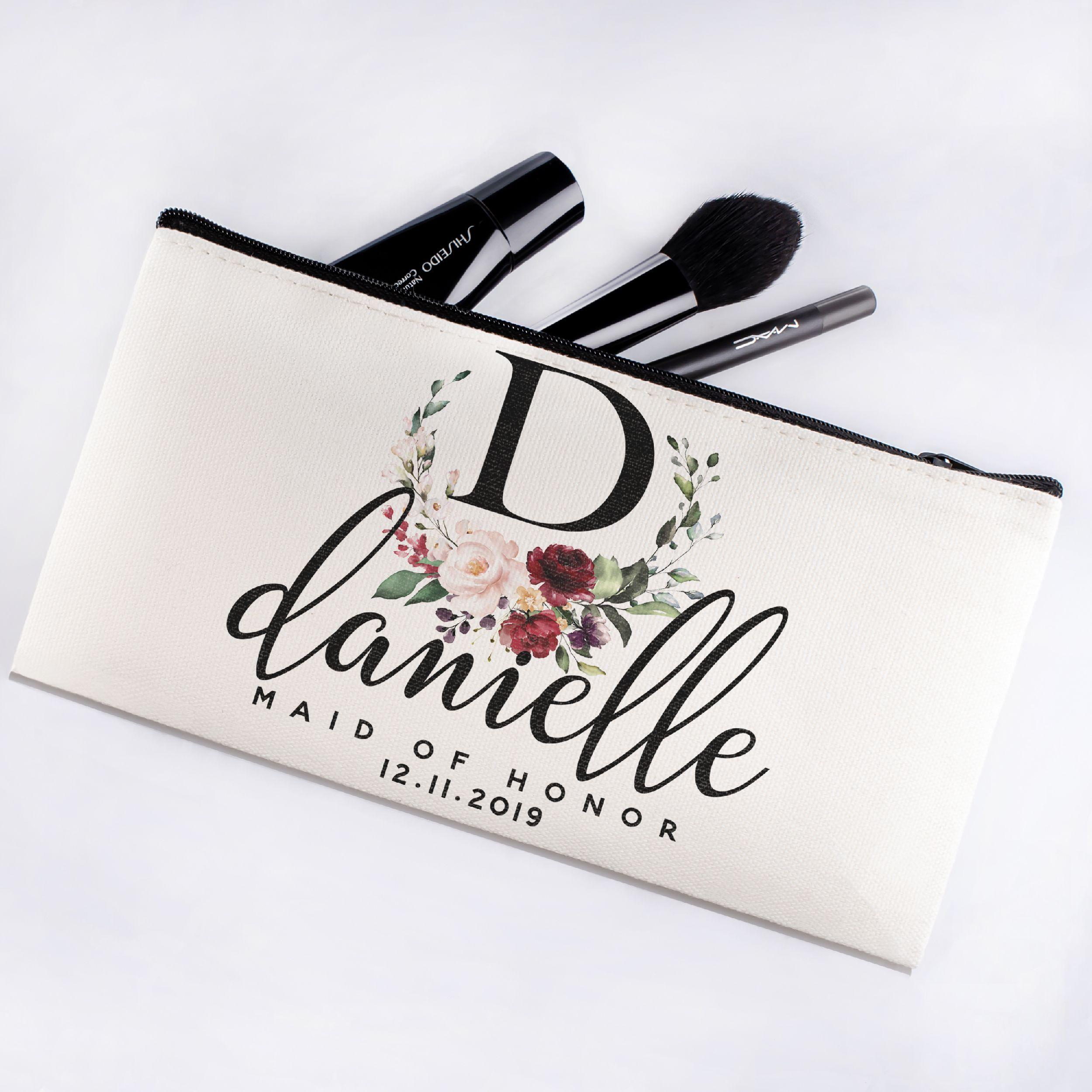 Personalized Makeup Bag Bridesmaid | Wedding Customized ...