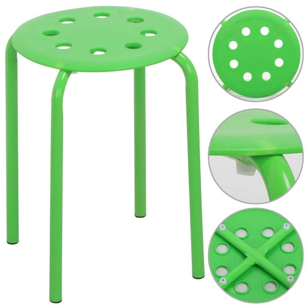 Amazoncom Yaheetech 173 Plastic Stack Stools Portable Stackable