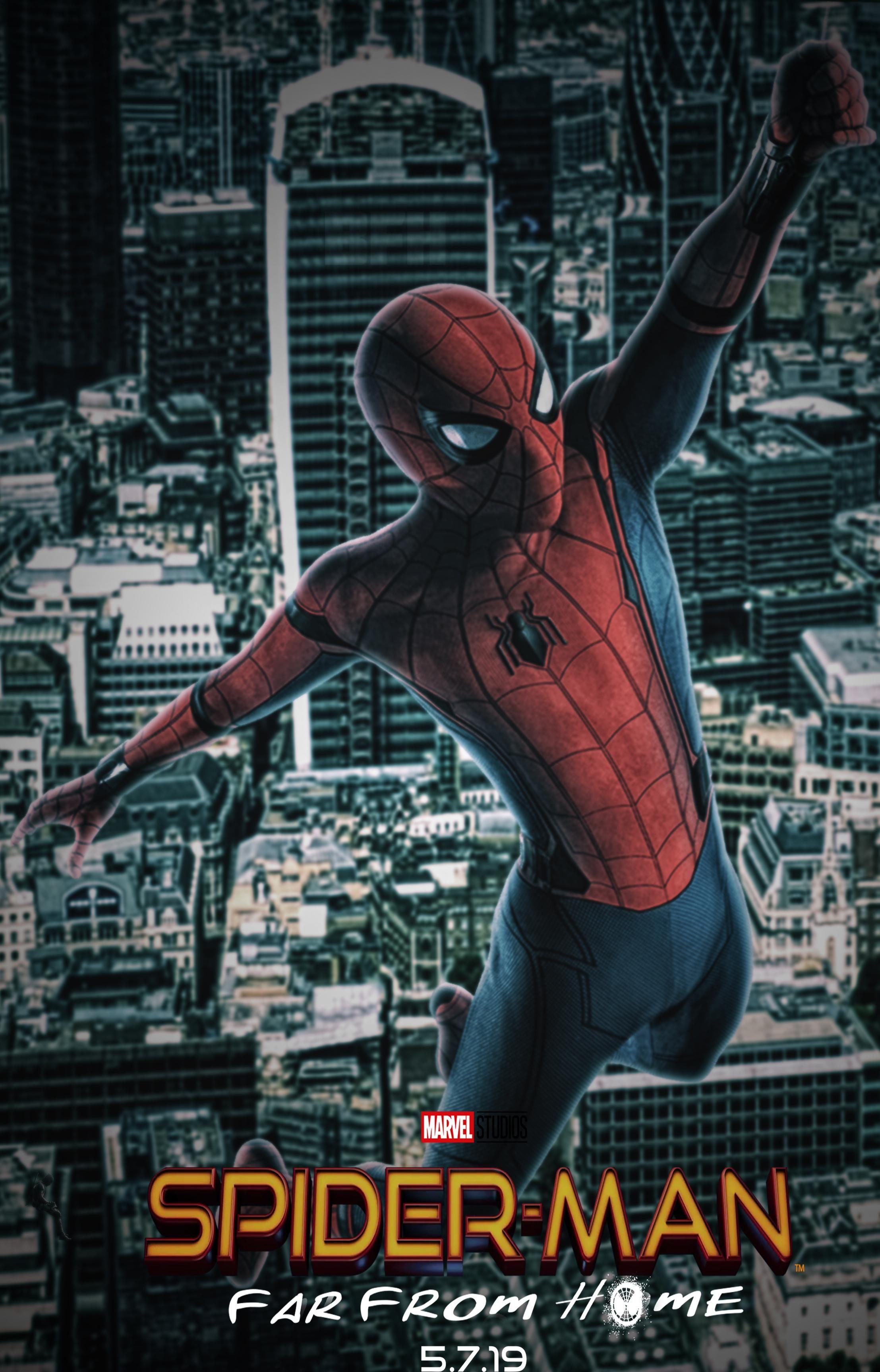 Hasil gambar untuk SPIDER-MAN: FAR FROM HOME 2019 poster