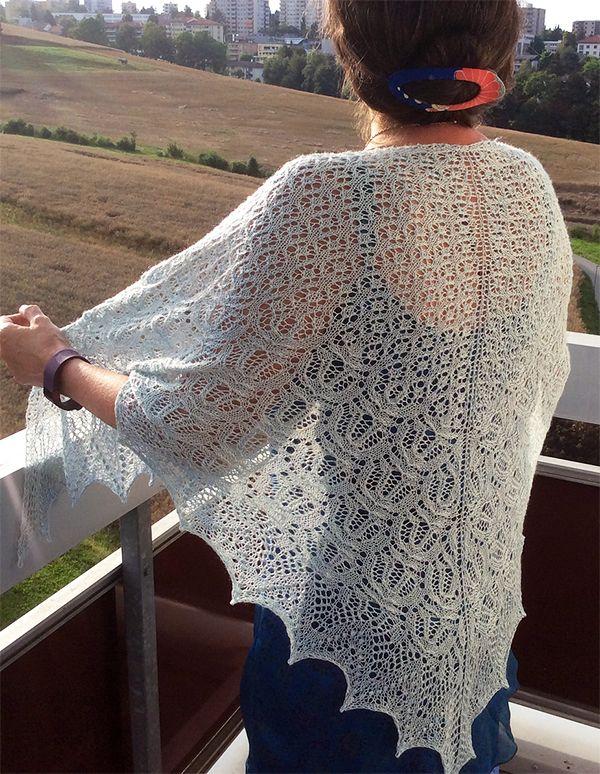 Free Knitting Pattern for Percy Shawl - Estonian lace ...
