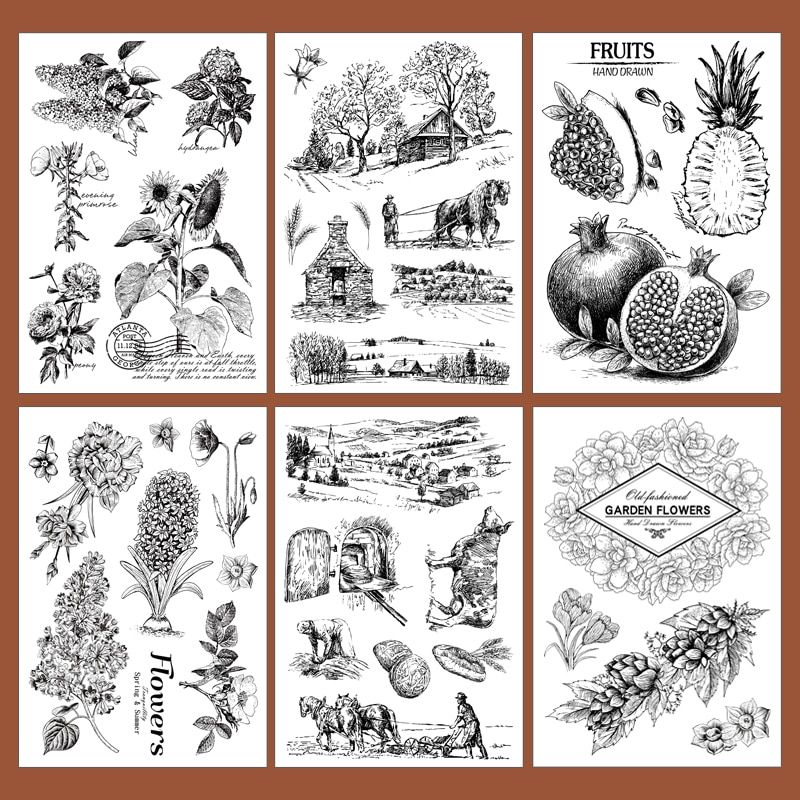 Farm Transparent Clear Stamps and metal cutting die //Seal for DIY scrapbooking//p