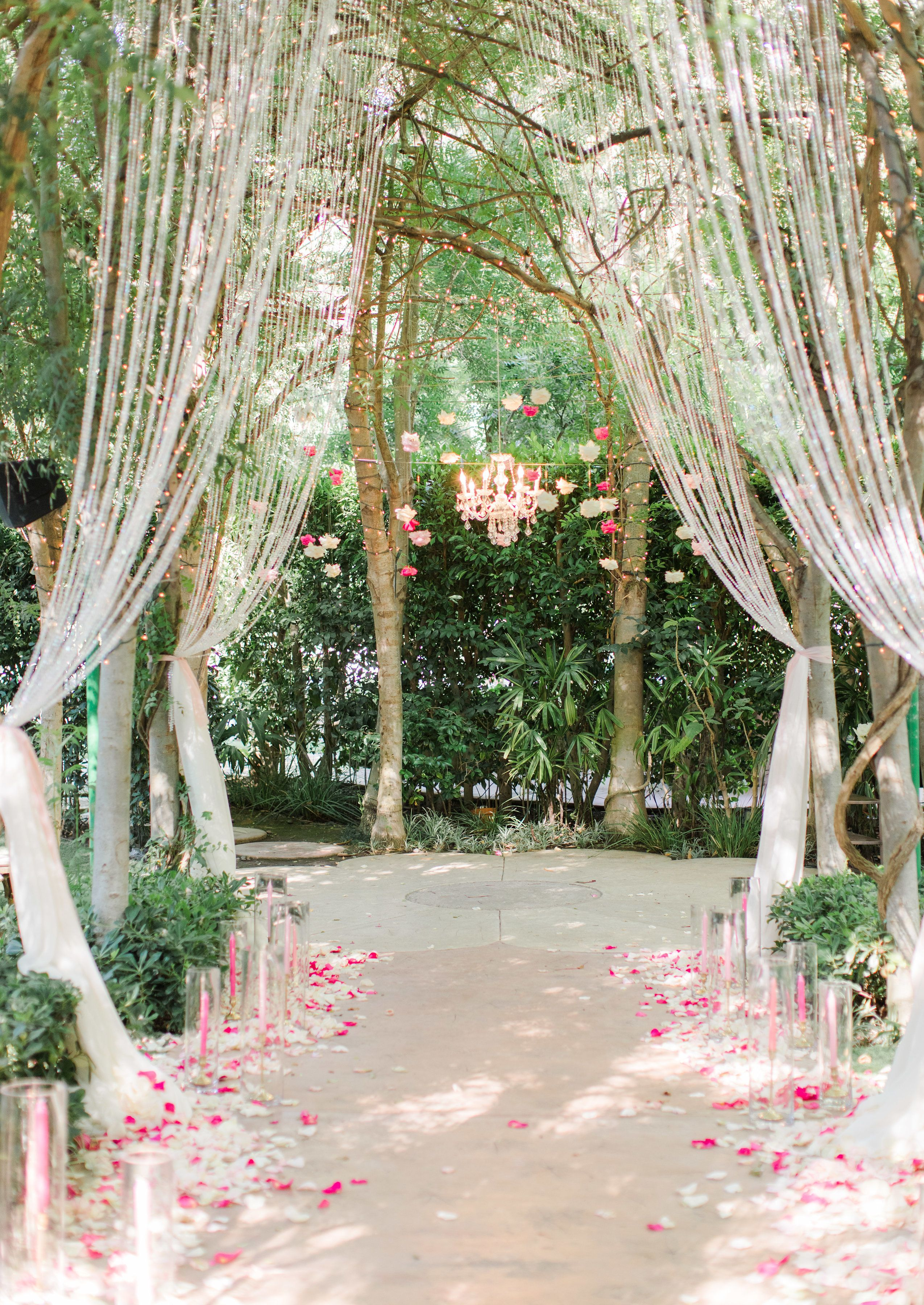 Wedding decorations natural  This Wedding Ceremony Is the Definition of Enchanting  Weddings