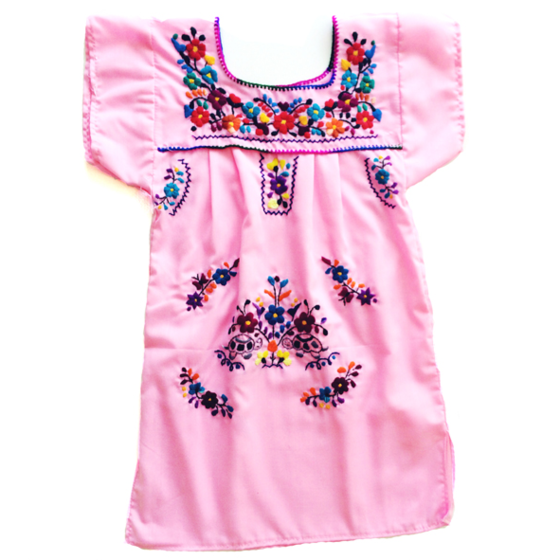 Image Of Bright Colored Mexican Peasant Dress For Little