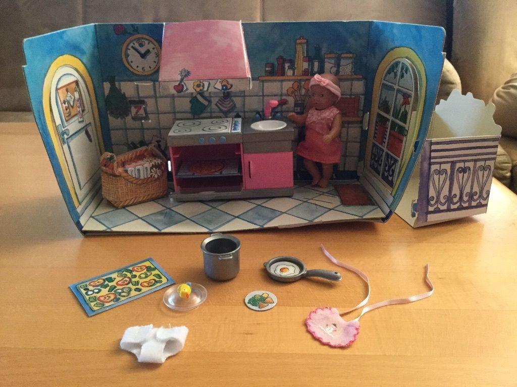 Mini Baby Born Miniworld Küche mit Einrichtung u. Puppe in ...