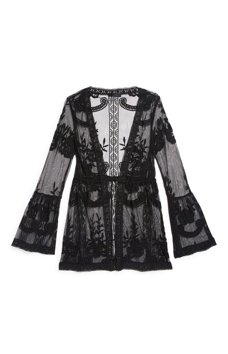 4ab056e48417 Primark - Black Textured Beach Dress
