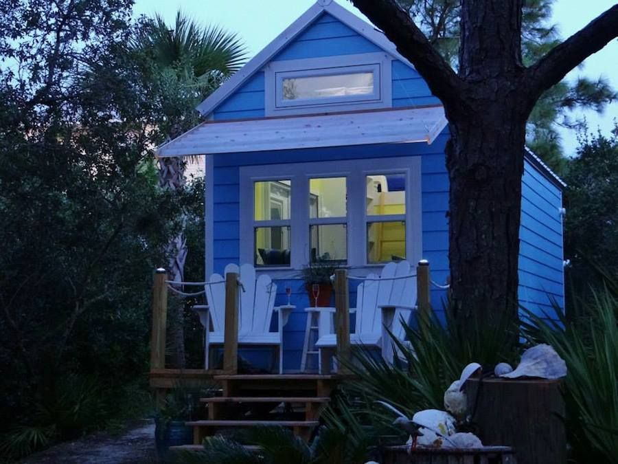 St George Island Florida totally off grid tiny house