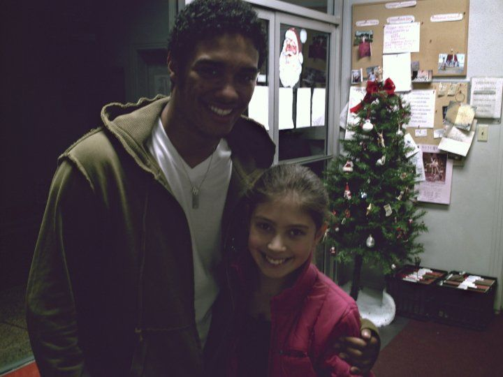 With Danny Tidwell after a private ballet lesson at Denise Wall's Dance Energy studio (age 9)