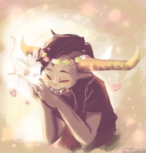 """If Vriska could see Tavros like this, I'm pretty sure she'd think, """"I'm sorry I got rid of that beautiful smile."""" <--- thanks for that *sobs in corner*"""