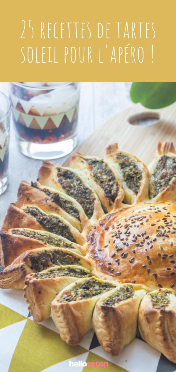 25 recettes faciles de tartes soleil !  #aperodinatoirefacile