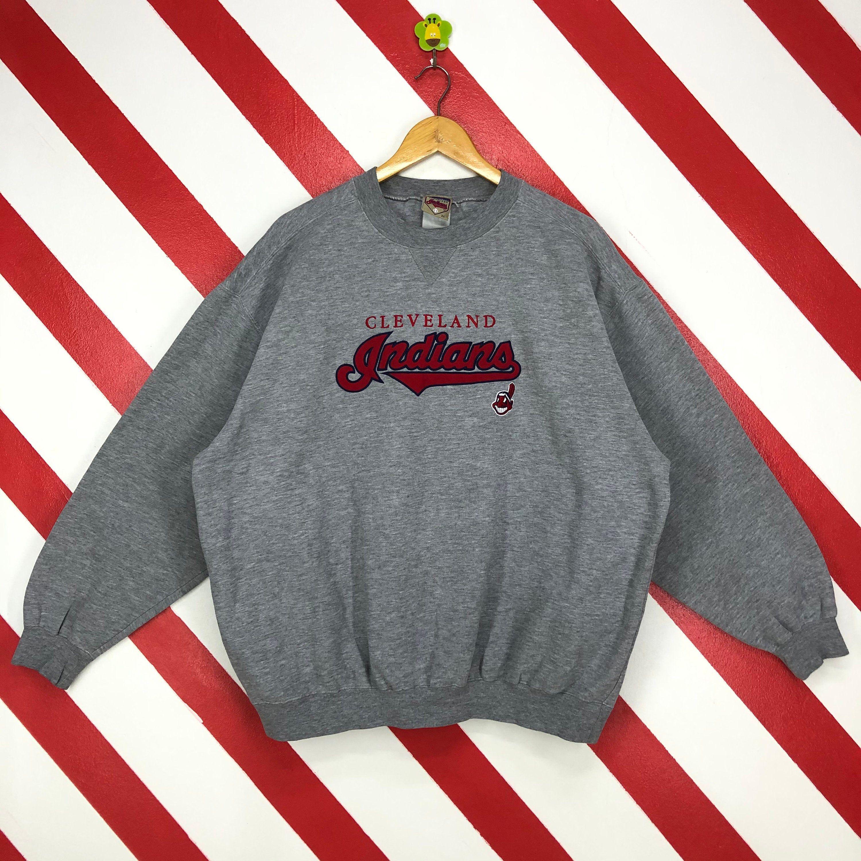 Vintage 90s Cleveland Indians Sweatshirt Crewneck Indians Etsy Sweatshirts Sportswear Embroidery Logo [ 3000 x 3000 Pixel ]