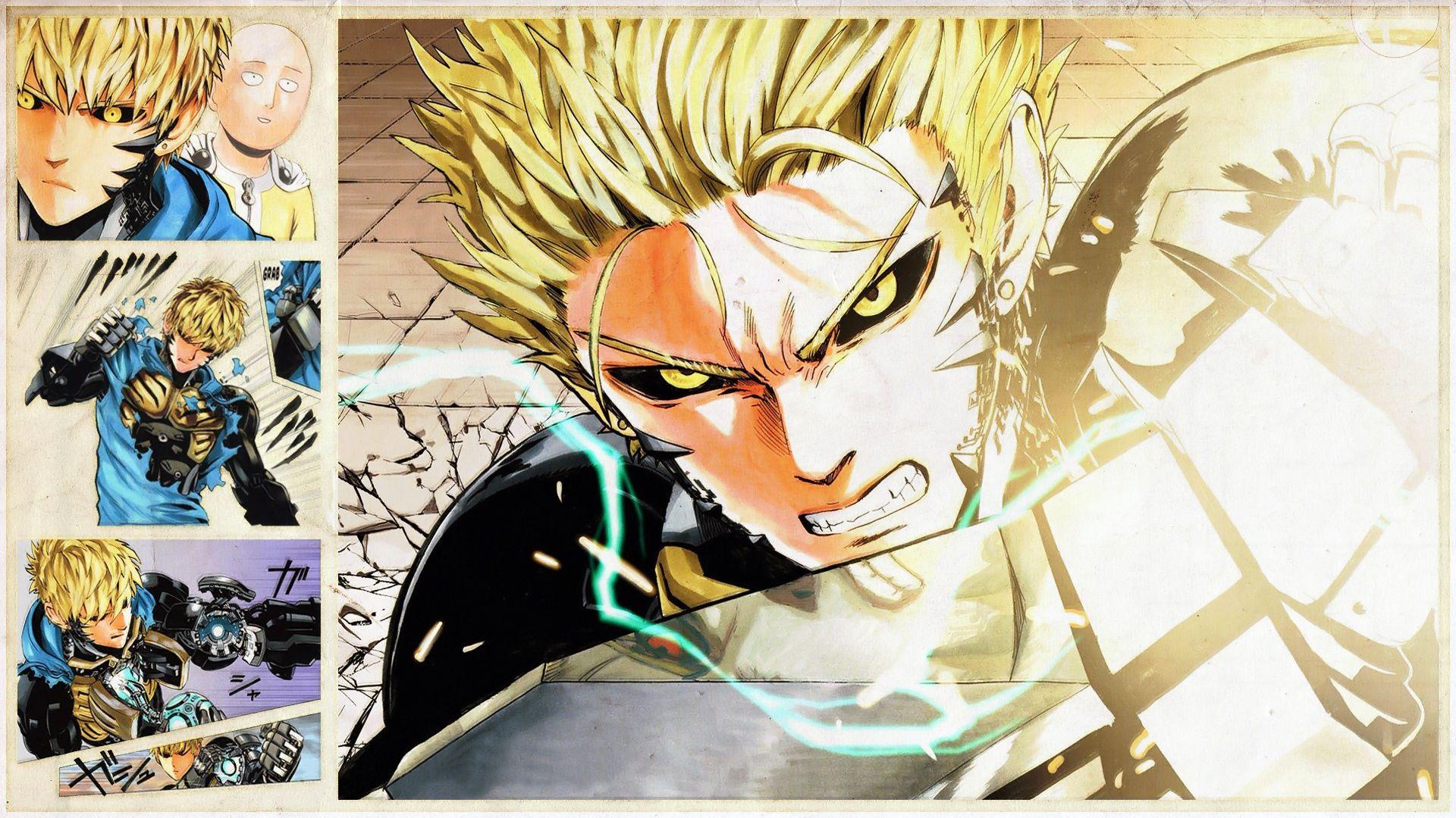 Genos One Punch Man Saitama Middot Hd Wallpaper Background Id