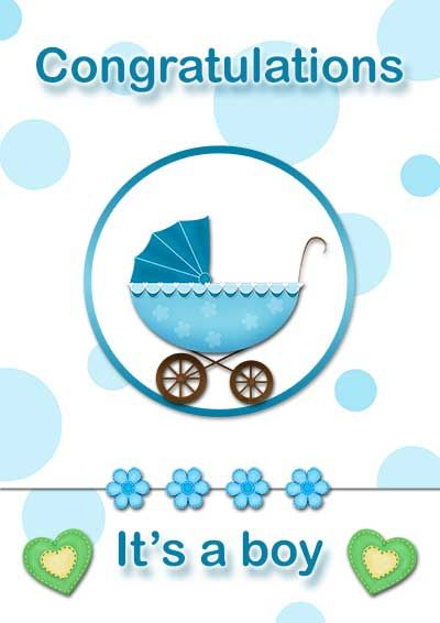 Baby Boy Shower Card Printable : shower, printable, Printable, Cards, Every, Occasion, Shower, Cards,, Congratulations, Card,