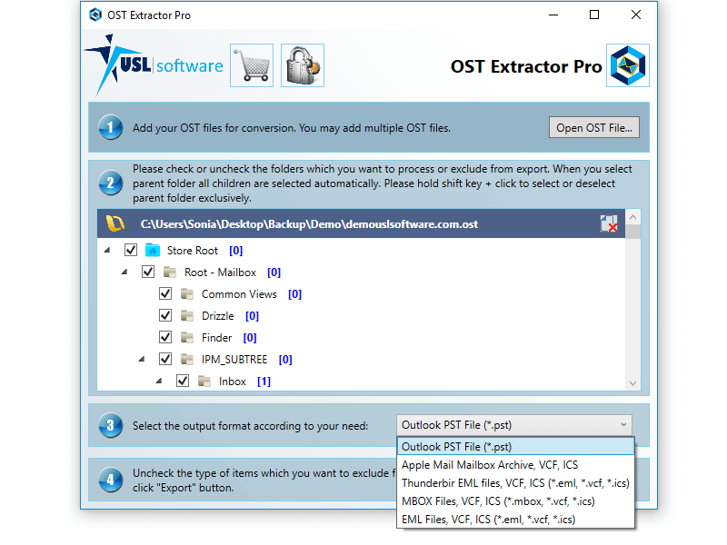 OST Extractor Pro is a unique OST to MBOX converter that