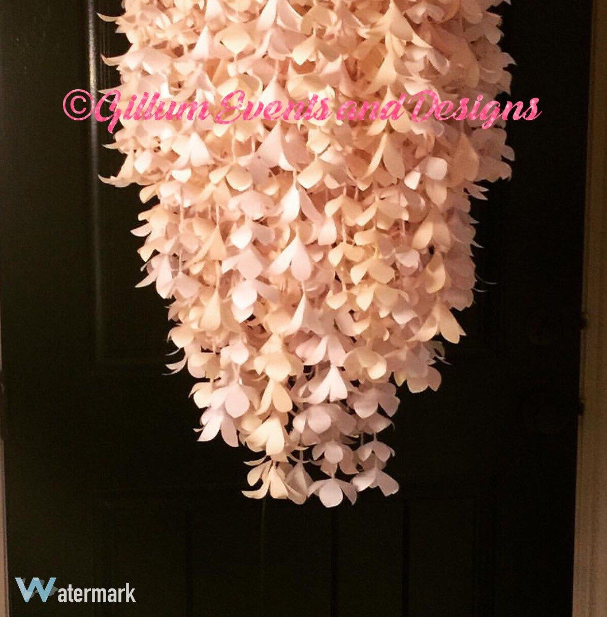A personal favorite from my etsy shop httpsetsylisting chandelier handmade paper flower chandelier with by paperstopetals arubaitofo Gallery