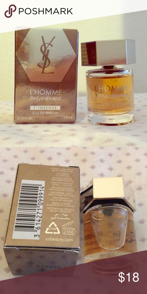 Ysl Lhomme Parfum Intense Travel Size 75ml25floz Brand New