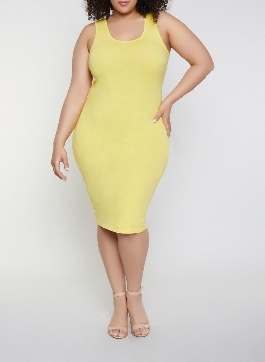 Plus Size Bodycon Tank Dress   Products in 2019   Plus size ...