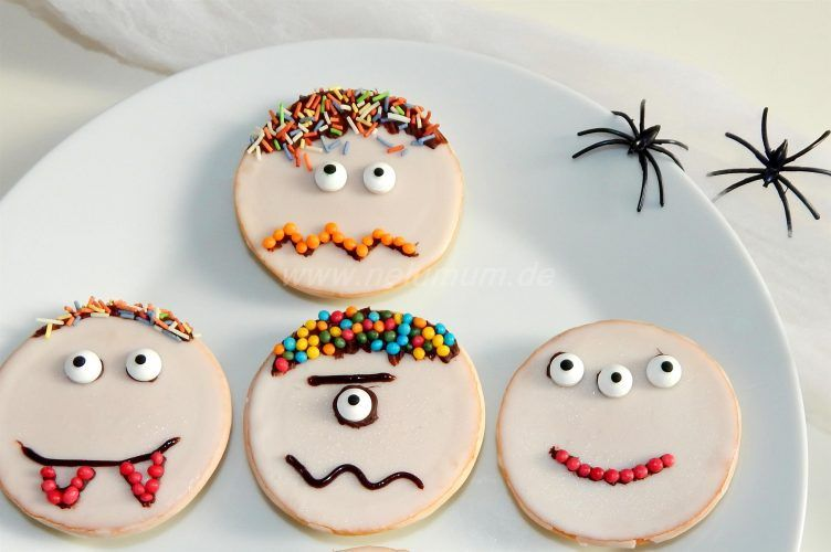 Süße Monster zu Halloween #halloweencraftsfortoddlers