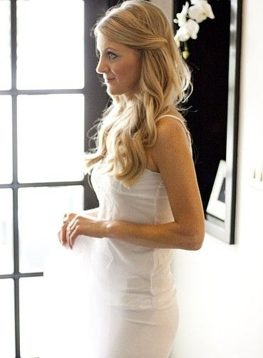 Simple wedding party hairstyles