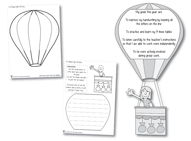 I'm Flying High Activity ~ great goal setting activity