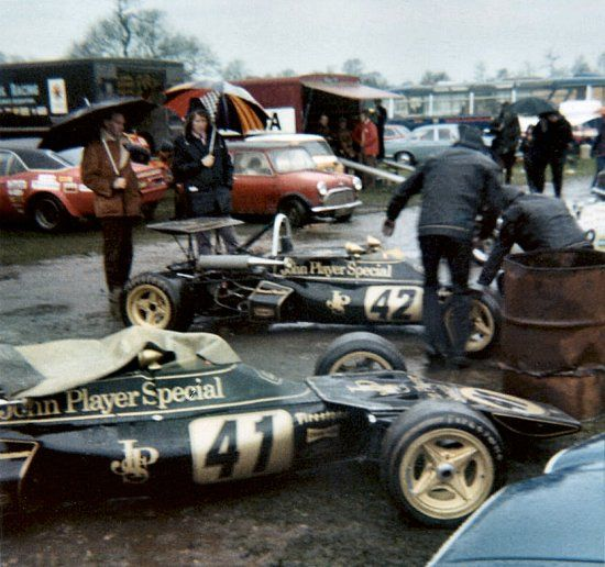 LOTUS 73 - new Team Formula 3 car to race in black/gold livery in 1972.