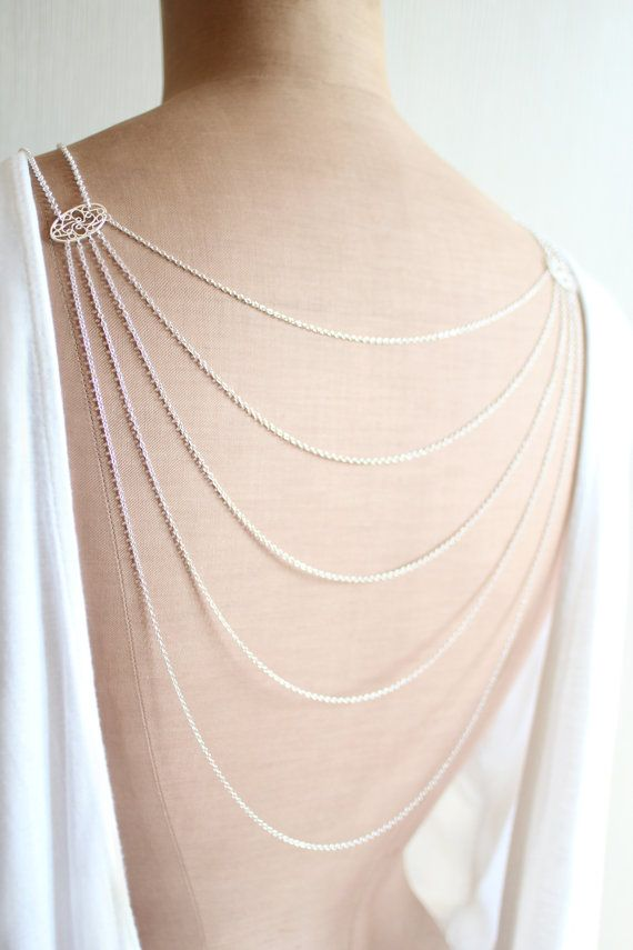 bcb033ac3fdd71 Romance is a delicate and elegant layered necklace which will drape  beautifully on your body. You can wear it as a normal necklace on the front