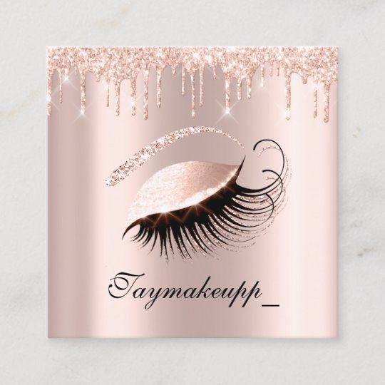 rose pink makeup artist lashes extension drips square