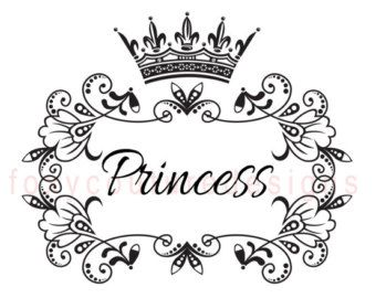 Princess Crown Drawing In Black And White
